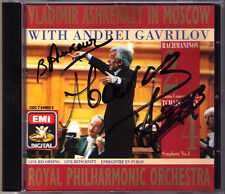 Andrei GAVRILOV, ASHKENAZY Signed RACHMANINOV Concerto 2 TCHAIKOVSKY 4 In Moscow
