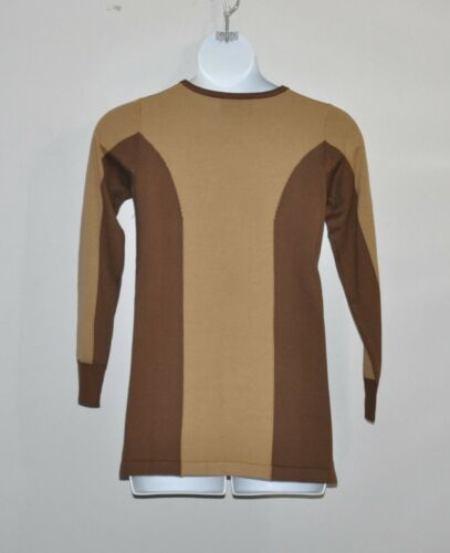 Bob Mackie Embroidered Medallion Sweater Size XL Chocolate//Camel