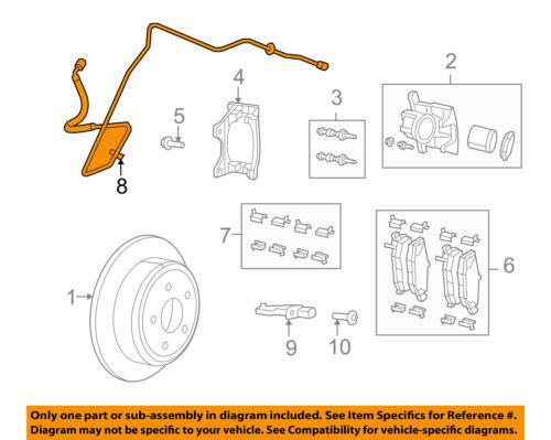 CHRYSLER OEM Rear Brake-Hydraulic Flex Hose 52109854AF