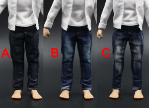 "1//6 Scale Jeans Clothing Set Jacket and Pants Model F 12/"" Male Solider Figure"