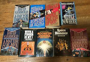 9 sci-fi novels David Gerrold mass market pbs fantasy space travel War Chtorr
