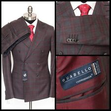 Mens SARTORE Gray Tartan Guabello Wool Double Breasted Peak Suit 48 8 38 R NWT!