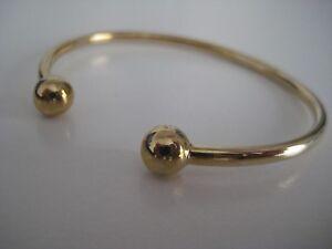 19844e2de957d Details about Yellow Gold Torque bangle 9 carat ladies