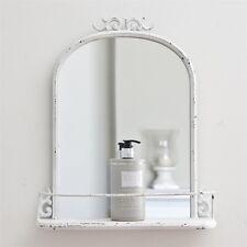 Petite francese specchio parete in metallo stile vintage Scaffale Shabby Chic