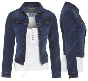 NEUF-Veste-En-Jeans-femmes-jean-taille-Vestes-femmes-gilet-taille-8-10-12-14-16