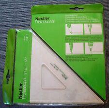 2x NESTLER 6411 Dreieck mit Tuschkante 45-45-90° 210 mm Geodreieck