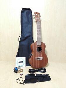 Haze HA-U23CEQ All-Mahogany Concert Ukulele,EQ+Gig Bag,Extra Strings,Pick,Strap