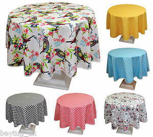 Colourful-Round-Quality-Poly-Cotton-Tablecloths-Different-Patterns-160CM-63-034