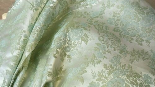 """49/"""" Wide! Sold by the Yard!! Green and Blue Floral Pattern! 133"""
