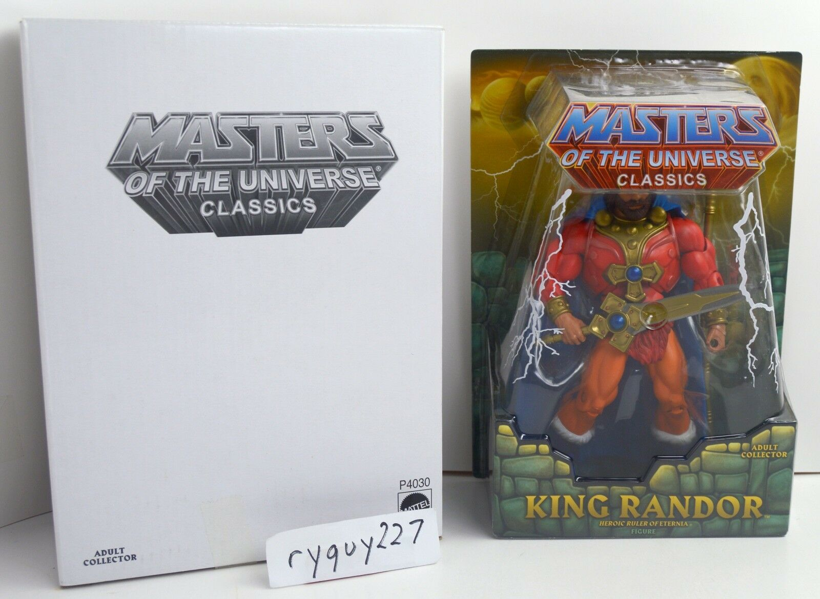 MOTUC, King Randor, Masters of the Universe Classics, MOC, figure, sealed, MISB