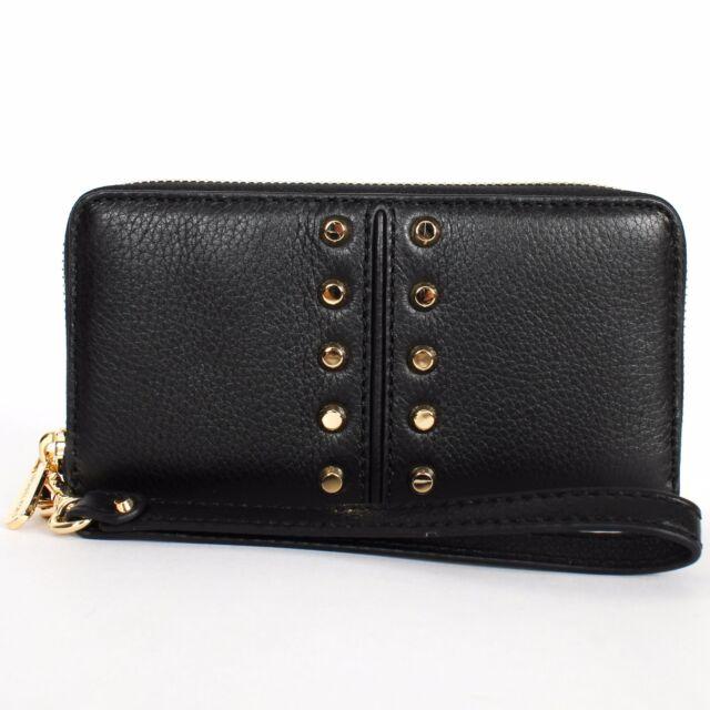 7a1532eb9c0d87 Michael Kors Astor Chain Large Coin Multifunction Case Wallet Black