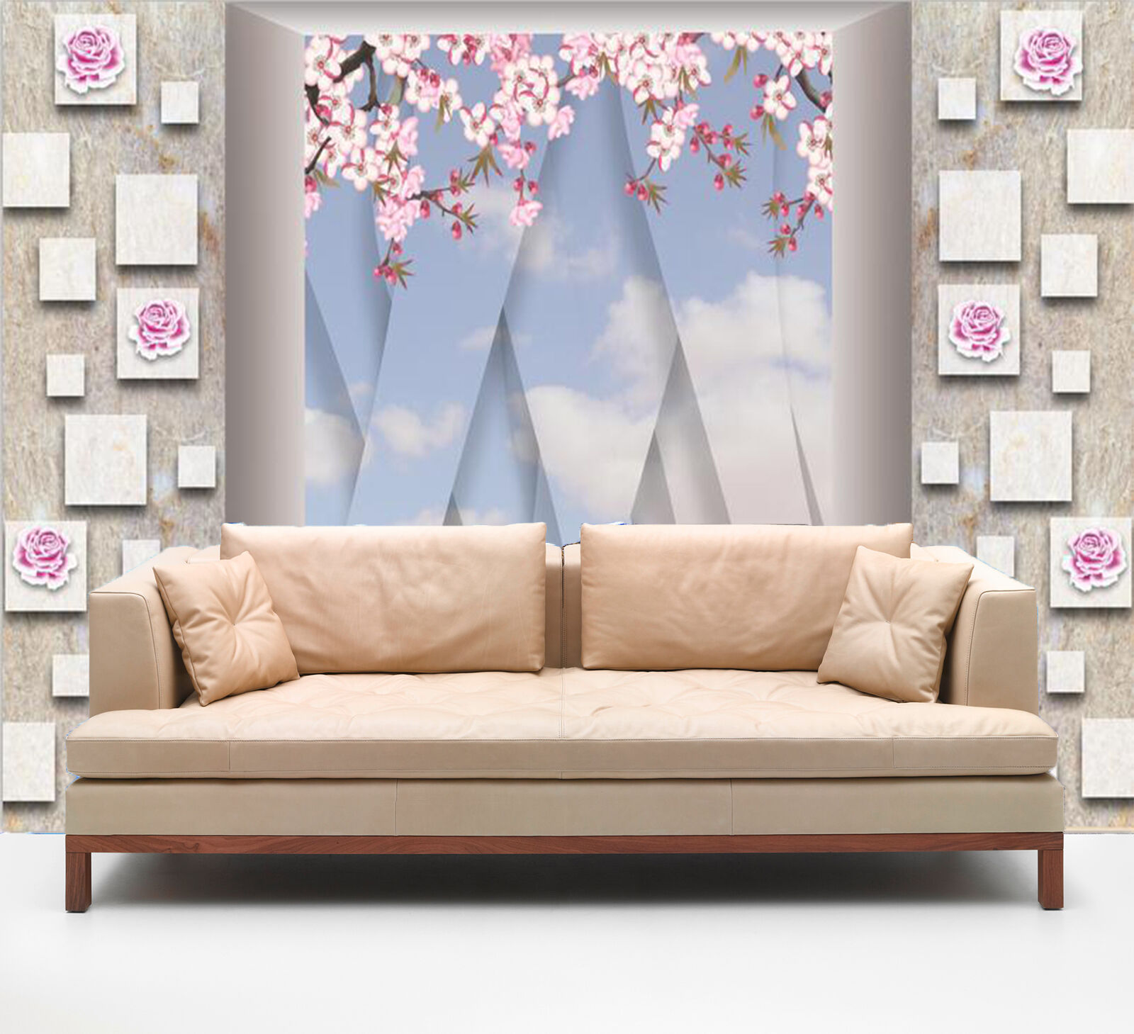 3D Flowers And Patterns 485 Wallpaper Decal Dercor Home Kids Nursery Mural  Home