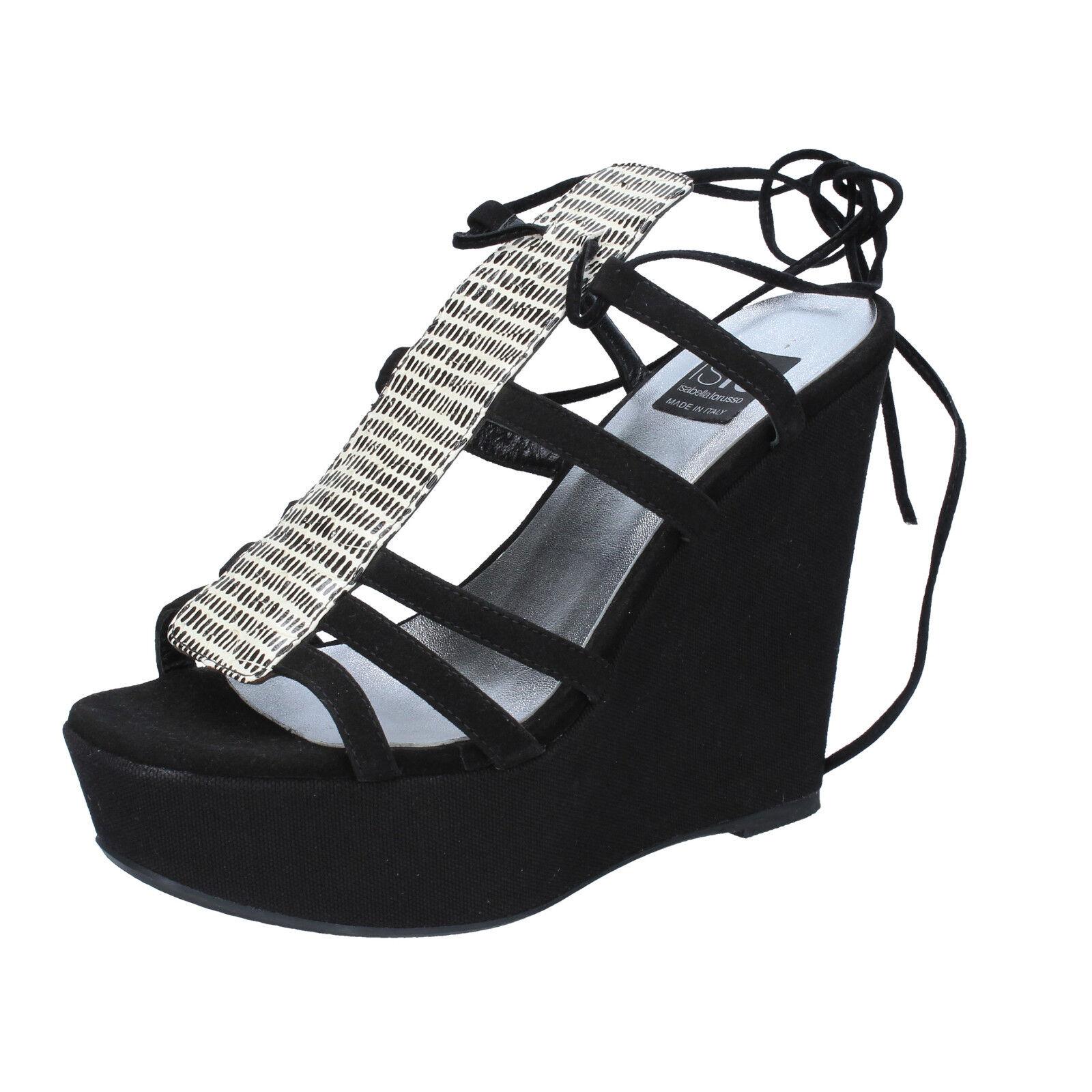 scarpe donna ISLO ISABELLA nero LORUSSO 36 EU sandali nero ISABELLA camoscio BZ328-B 1314da