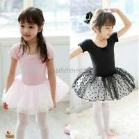 Hot Kids Girl Ballet Costume Leotards Princess Party Dance Tutu Dress Skirt 3-7Y