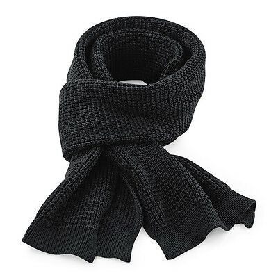 Beechfield Classic Knitted Scarf Winter Waffle Unisex Warm Thick Touch BC424