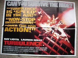 TURBULENCE-Original-film-poster-Ray-Liotta-Lauren-Holly-1990-039-s-UK-quad