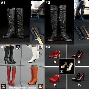 c7b981abca5 1/6 Scale High-heeled Boots Women Shoes For 12