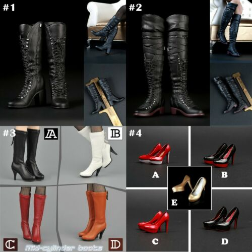 """1//6 Scale High-heeled Boots Women Shoes For 12/"""" Action Figure Female Body Toys"""