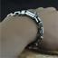 925 Sterling Silver Mens Buckle Bracelet Link Chain Vintage Thai Silver Bangle