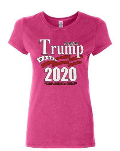 Keep America Great Women/'s T-Shirt President Trump 2020 MAGA Republican Shirt