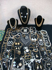 HUGE LOT OF VINTAGE/NOW COSTUME JEWELRY ALL WEARABLE BIG VARIETY NICE 141 PIECES