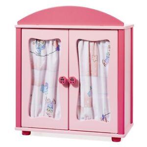 """Babypuppen & Zubehör 3 Kleiderbügel 2611 üPpiges Design Howa Puppenmöbel Puppenschrank """"lovely Clown"""" Rosa Incl"""