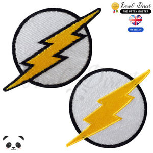 Flash-Superhero-Movie-Embroidered-Iron-On-Sew-On-Patch-Badge-For-Clothes-etc