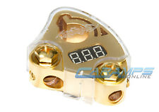 XSCORPION GOLD LCD DIGITAL POWER DISPLAY CAR STEREO POSITIVE BATTERY TERMINAL