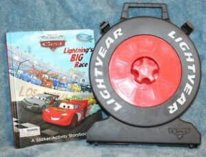 Disney-039-s-Cars-Case-and-The-World-of-Cars-Lightning-039-s-BIG-Race-Book