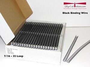 Wire Binding Supplies | 7 16 Black Double Loop Wire Binding Supplies Double Loop Wire Ebay