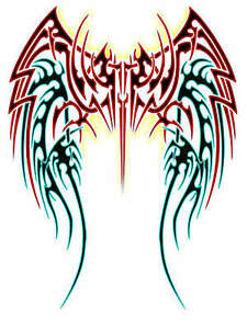 dc8005feda27f Image is loading TRIBAL-WINGS-TATTOO-STYLE-A4-TSHIRT-TRANSFER-ANGEL-