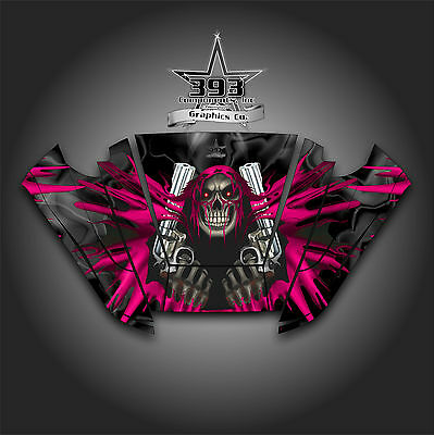 Arctic Cat Wildcat Trail Graphic Decal Kit Wrap Hood Unleashed Black Red