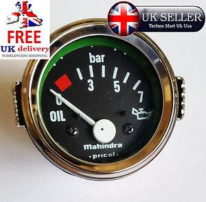 0-7-BAR-OIL-PRESSURE-GAUGE-METER-FUEL-TANK-METER-52-DIA-2-034-INCH-CHROME-DIAL-UK