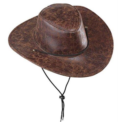 Cowboy Leatherlook Cappelli da Cowboy Selvaggio West TAPPI /& Cappucci Per Travestimenti-Cappello