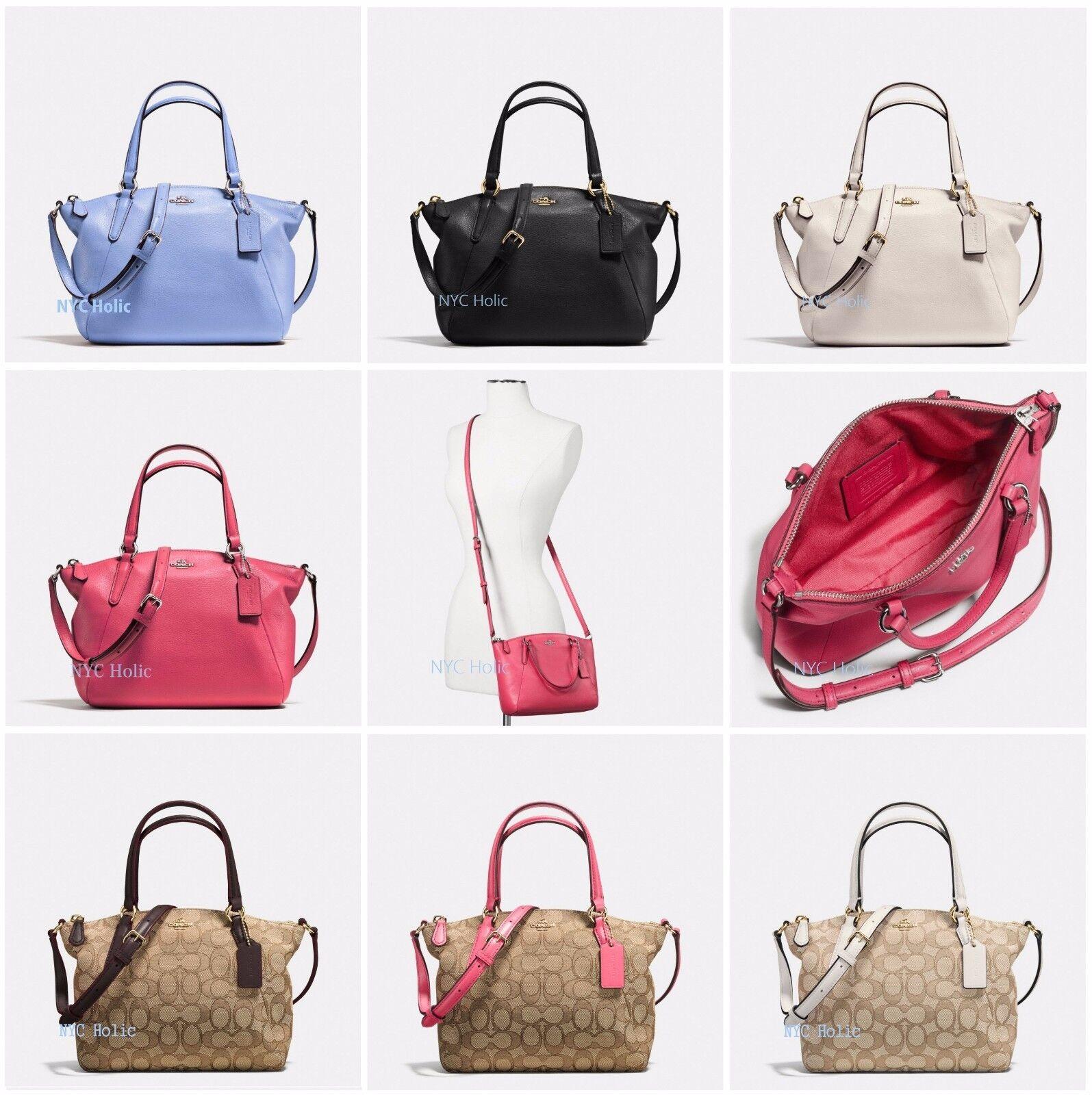Coach F36675 Small Kelsey Pebble Leather Satchel Handbag Chalk for ... a36eb4962f555