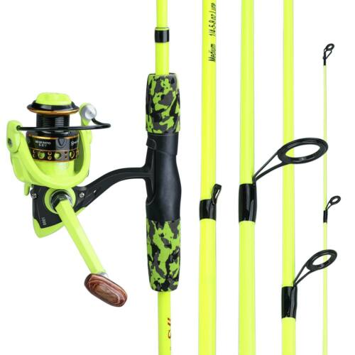 Carbon Fiber Spinning Fishing Rod and Reel Combo Hand Pole Spinning Reel Set US