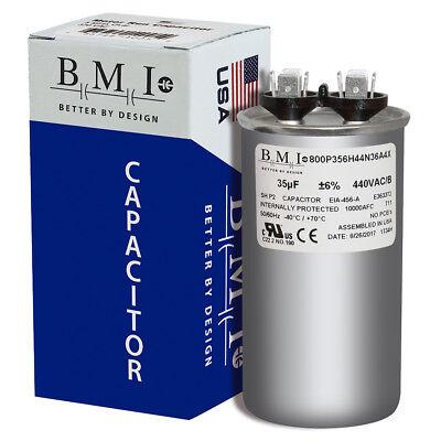 CPT-0235-35 uF MFD x 440 VAC Genteq Replacement Capacitor Round # C435R American Standard CPT00235 25L502