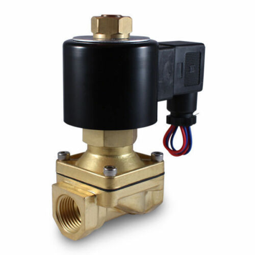 """1//2/"""" 110V AC NORMALLY OPEN Electric Brass Solenoid Valve 110 120 Volts VAC N//O"""