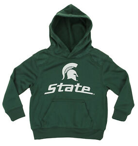 Green NCAA Kids Michigan State Spartans Performance Hoodie