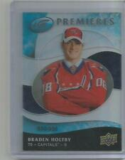 2009-10 UD Ice Premieres #142 Braden Holtby /999 Washington Capitals