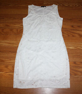 Details About Nwt Womens Tiana B White Lace Sleeveless Dress Size S Small 98