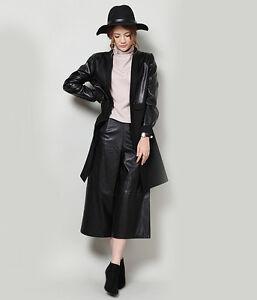 Women-Leather-Culottes-Gaucho-Pants-Genuine-Lambskin