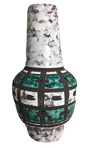 Vintage-Mid-Century-Modern-German-Pottery-Ceramic-Vase-Strehla-Keramik-VEB