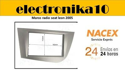 2010 Gris Antracita Kit Montaje Radio Marco Embellecedor 2 DIN Seat Leon 2005