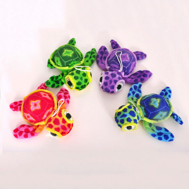 Red/&Green Big Eye Sea Turtle Ocean Soft Stuffed Plush Animal Toy Doll 15cm//6inch