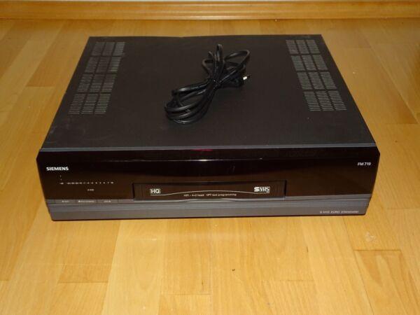 100% Kwaliteit Siemens Fm719 High-end S-vhs Videorecorder, 2 Jahre Garantie Kleuren Zijn Opvallend