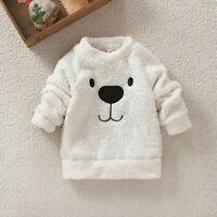 Kinder Mädchen Jungen Sweatshirt Mantel Pullover Winterjacke Sweater Winter Warm