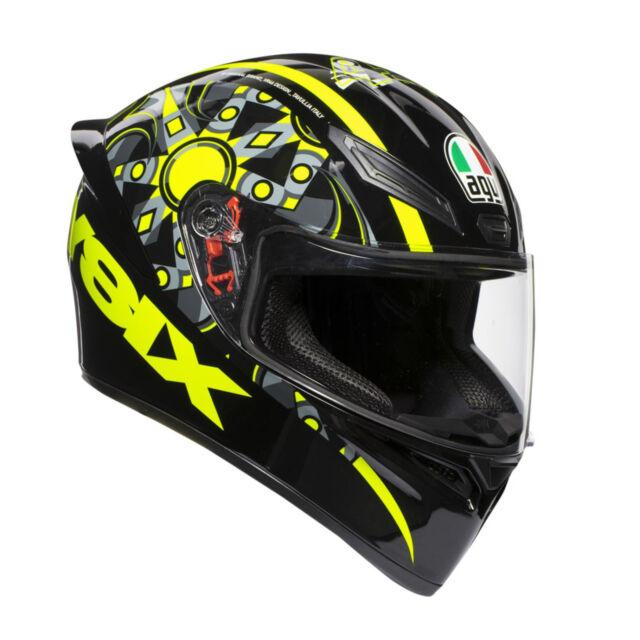 Agv K1 Top Flavum 46 Casque Valentino Rossi Taille XL visière Pinlok de Moto