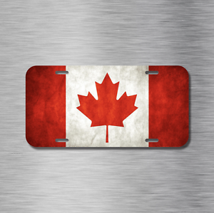 Canadian Flag Vehicle License Plate Front Auto Tag Canada Maple Leaf Toronto NEW