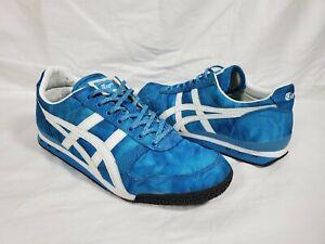 Onitsuka-Tiger-Blue-White-Womens-Shoes-D58BK-Size-US-8